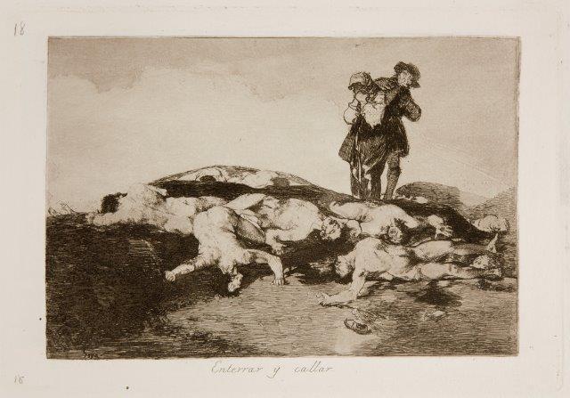 Goya - Enterrar y callar (Desastres 18)
